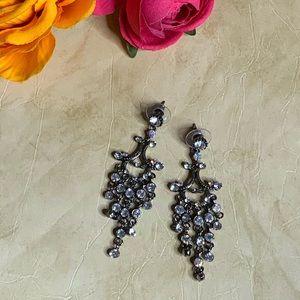 Jewelry - Crystal Metal Chandelier Drop Earrings